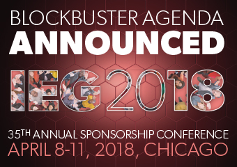 IEG 2018 Blockbuster Agenda Announced