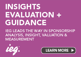 IEG leads the way in sponsorship analysis, insight, valuation and measurement
