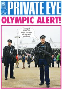 Cover of Britain's Private Eye magazine pokes fun at LOCOG's brand police
